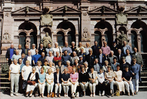 Photo of choir, family and friends at Heidelberg
