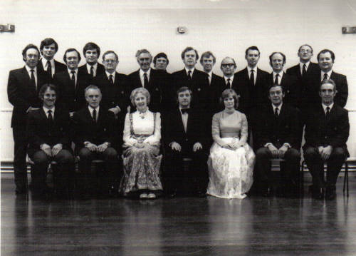 Choir at Civil Service Club, 1973